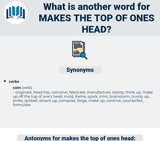 makes the top of ones head, synonym makes the top of ones head, another word for makes the top of ones head, words like makes the top of ones head, thesaurus makes the top of ones head