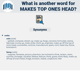 makes top ones head, synonym makes top ones head, another word for makes top ones head, words like makes top ones head, thesaurus makes top ones head