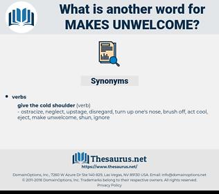 makes unwelcome, synonym makes unwelcome, another word for makes unwelcome, words like makes unwelcome, thesaurus makes unwelcome
