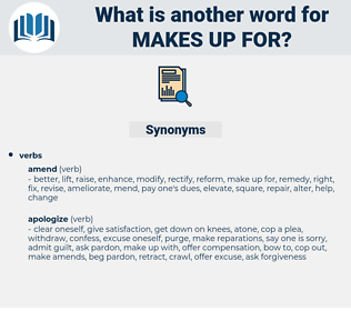 makes up for, synonym makes up for, another word for makes up for, words like makes up for, thesaurus makes up for