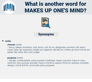 makes up one's mind, synonym makes up one's mind, another word for makes up one's mind, words like makes up one's mind, thesaurus makes up one's mind