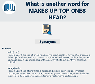 makes up top ones head, synonym makes up top ones head, another word for makes up top ones head, words like makes up top ones head, thesaurus makes up top ones head
