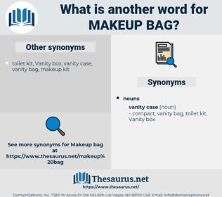 makeup bag, synonym makeup bag, another word for makeup bag, words like makeup bag, thesaurus makeup bag