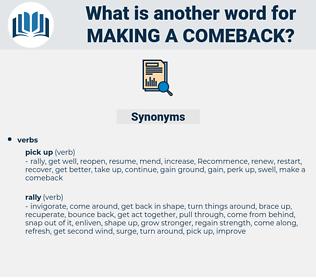 making a comeback, synonym making a comeback, another word for making a comeback, words like making a comeback, thesaurus making a comeback
