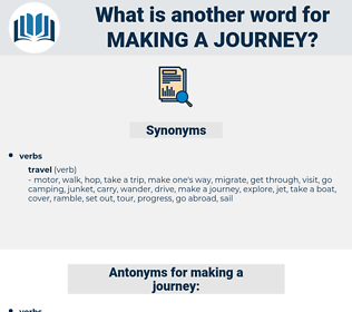 making a journey, synonym making a journey, another word for making a journey, words like making a journey, thesaurus making a journey