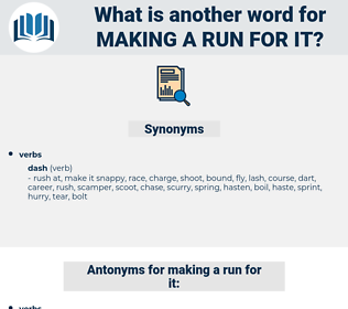 making a run for it, synonym making a run for it, another word for making a run for it, words like making a run for it, thesaurus making a run for it