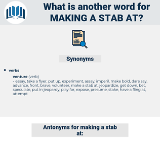 making a stab at, synonym making a stab at, another word for making a stab at, words like making a stab at, thesaurus making a stab at