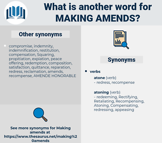 making amends, synonym making amends, another word for making amends, words like making amends, thesaurus making amends