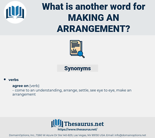 making an arrangement, synonym making an arrangement, another word for making an arrangement, words like making an arrangement, thesaurus making an arrangement