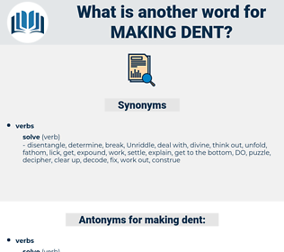 making dent, synonym making dent, another word for making dent, words like making dent, thesaurus making dent