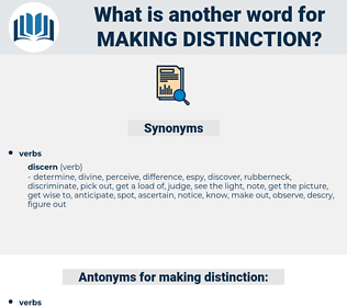 making distinction, synonym making distinction, another word for making distinction, words like making distinction, thesaurus making distinction