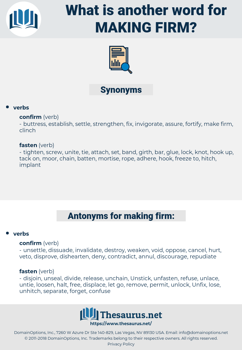 making firm, synonym making firm, another word for making firm, words like making firm, thesaurus making firm