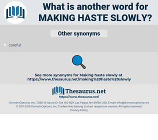 making haste slowly, synonym making haste slowly, another word for making haste slowly, words like making haste slowly, thesaurus making haste slowly