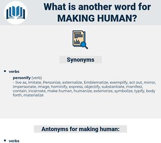 making human, synonym making human, another word for making human, words like making human, thesaurus making human