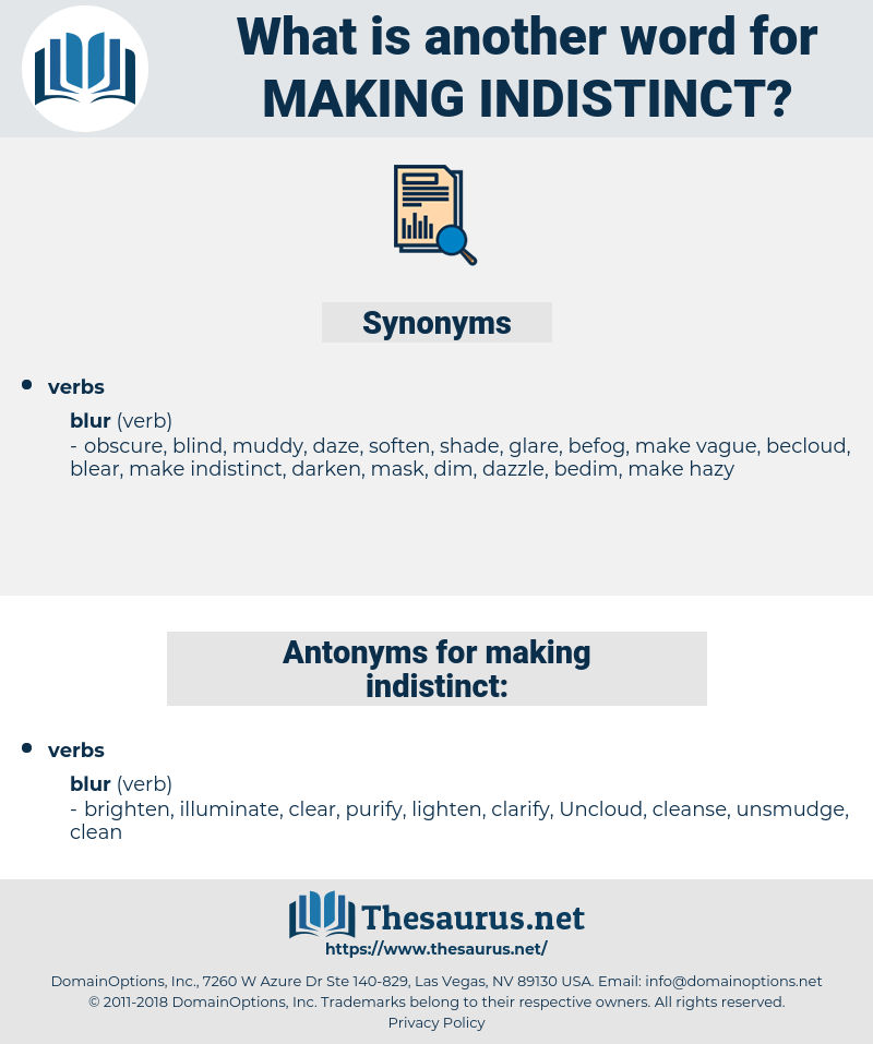 making indistinct, synonym making indistinct, another word for making indistinct, words like making indistinct, thesaurus making indistinct