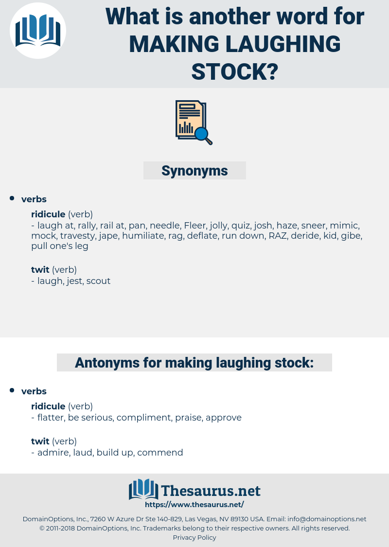 making laughing stock, synonym making laughing stock, another word for making laughing stock, words like making laughing stock, thesaurus making laughing stock