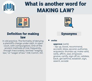 making law, synonym making law, another word for making law, words like making law, thesaurus making law