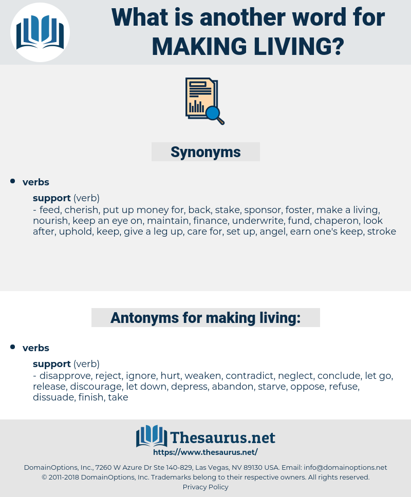 making living, synonym making living, another word for making living, words like making living, thesaurus making living