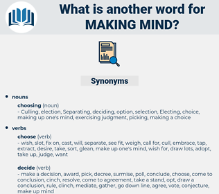 making mind, synonym making mind, another word for making mind, words like making mind, thesaurus making mind