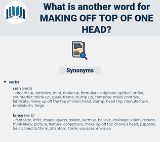 making off top of one head, synonym making off top of one head, another word for making off top of one head, words like making off top of one head, thesaurus making off top of one head