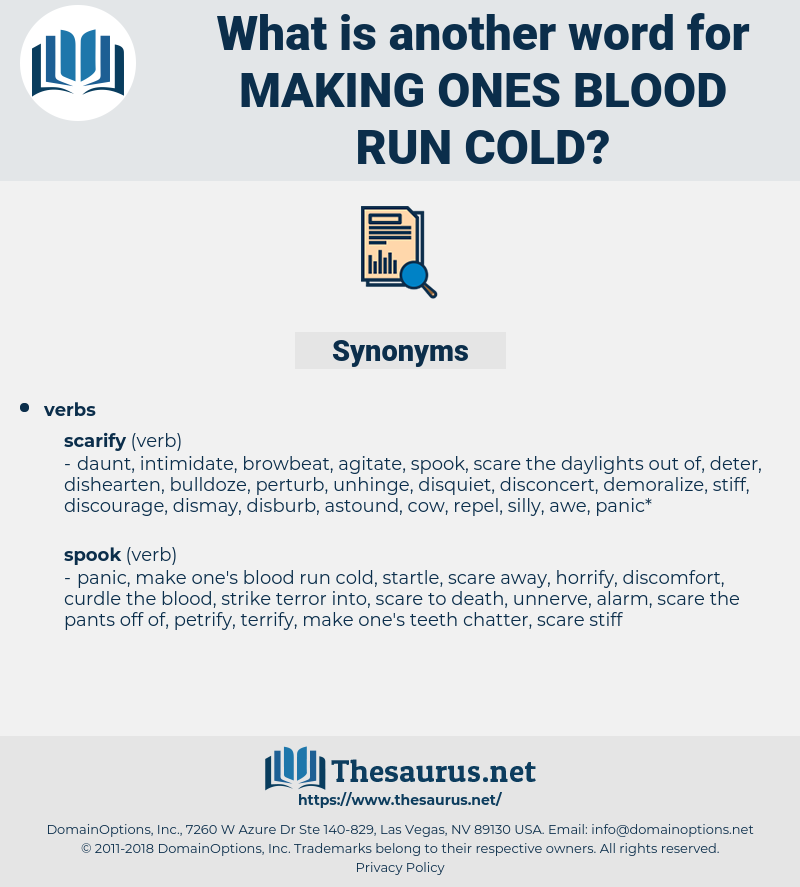 making ones blood run cold, synonym making ones blood run cold, another word for making ones blood run cold, words like making ones blood run cold, thesaurus making ones blood run cold