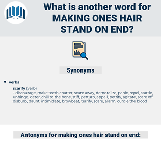 making ones hair stand on end, synonym making ones hair stand on end, another word for making ones hair stand on end, words like making ones hair stand on end, thesaurus making ones hair stand on end
