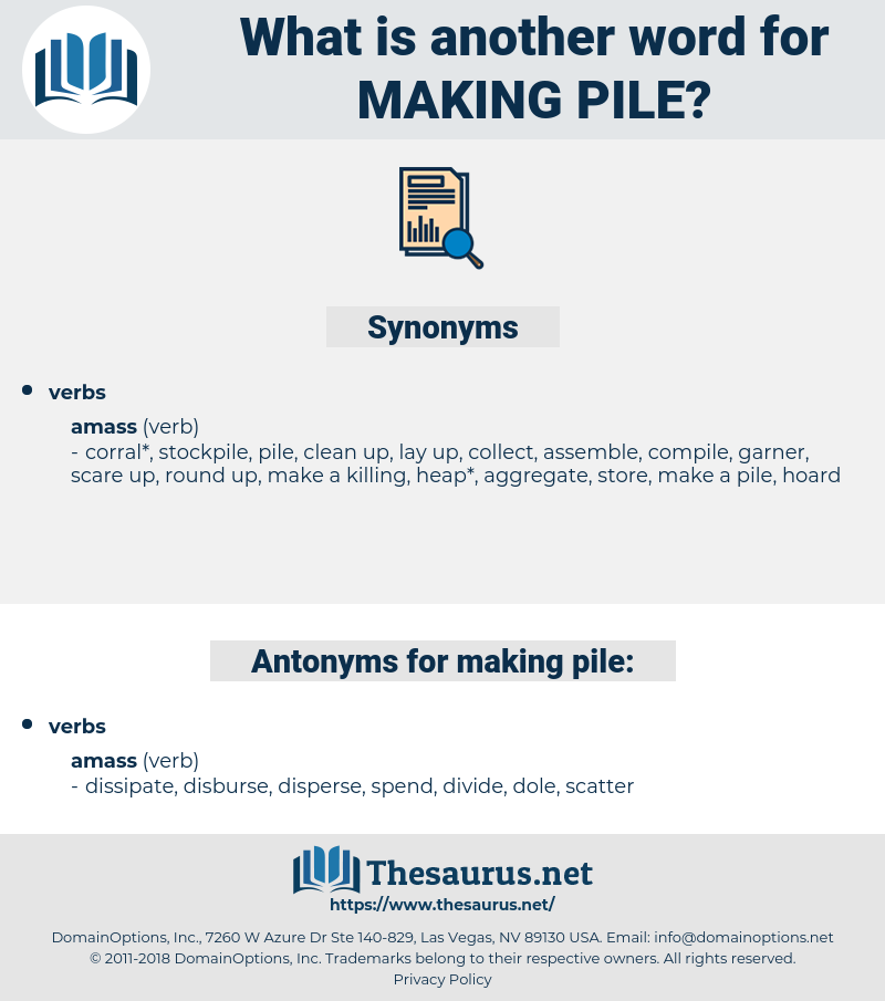 making pile, synonym making pile, another word for making pile, words like making pile, thesaurus making pile