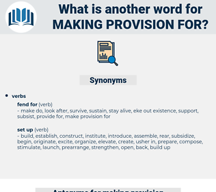 making provision for, synonym making provision for, another word for making provision for, words like making provision for, thesaurus making provision for
