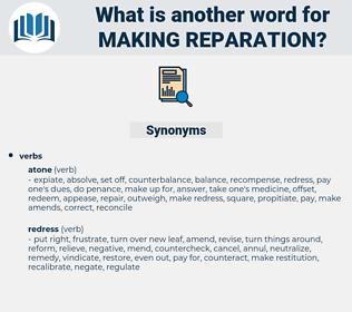 making reparation, synonym making reparation, another word for making reparation, words like making reparation, thesaurus making reparation
