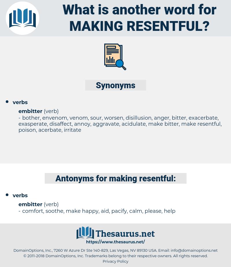 making resentful, synonym making resentful, another word for making resentful, words like making resentful, thesaurus making resentful