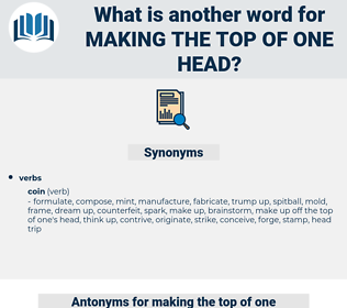 making the top of one head, synonym making the top of one head, another word for making the top of one head, words like making the top of one head, thesaurus making the top of one head