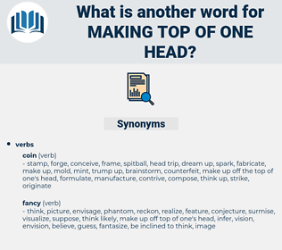 making top of one head, synonym making top of one head, another word for making top of one head, words like making top of one head, thesaurus making top of one head