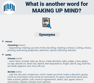 making up mind, synonym making up mind, another word for making up mind, words like making up mind, thesaurus making up mind