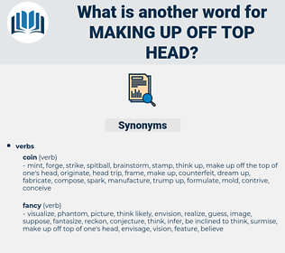 making up off top head, synonym making up off top head, another word for making up off top head, words like making up off top head, thesaurus making up off top head
