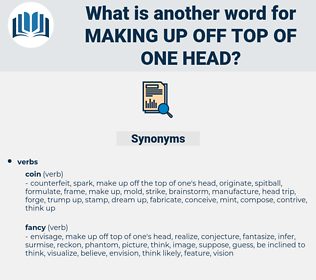 making up off top of one head, synonym making up off top of one head, another word for making up off top of one head, words like making up off top of one head, thesaurus making up off top of one head