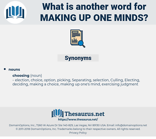making up one minds, synonym making up one minds, another word for making up one minds, words like making up one minds, thesaurus making up one minds