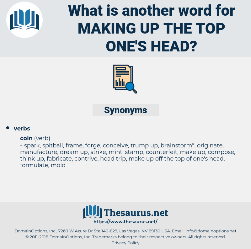 making up the top one's head, synonym making up the top one's head, another word for making up the top one's head, words like making up the top one's head, thesaurus making up the top one's head