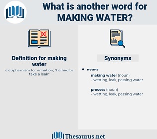 making water, synonym making water, another word for making water, words like making water, thesaurus making water