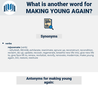 making young again, synonym making young again, another word for making young again, words like making young again, thesaurus making young again