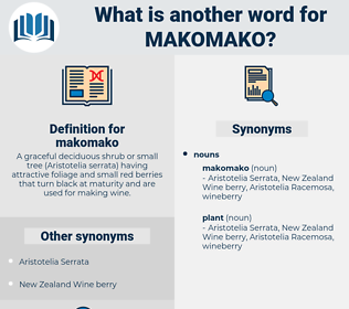 makomako, synonym makomako, another word for makomako, words like makomako, thesaurus makomako