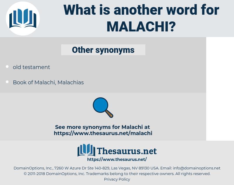 Malachi, synonym Malachi, another word for Malachi, words like Malachi, thesaurus Malachi