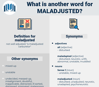 maladjusted, synonym maladjusted, another word for maladjusted, words like maladjusted, thesaurus maladjusted
