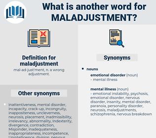 maladjustment, synonym maladjustment, another word for maladjustment, words like maladjustment, thesaurus maladjustment