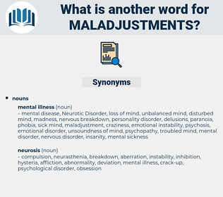 maladjustments, synonym maladjustments, another word for maladjustments, words like maladjustments, thesaurus maladjustments
