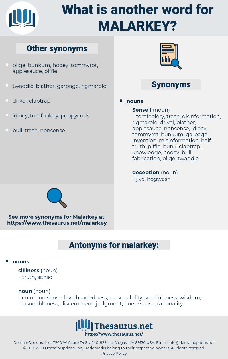 malarkey, synonym malarkey, another word for malarkey, words like malarkey, thesaurus malarkey