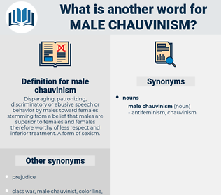 male chauvinism, synonym male chauvinism, another word for male chauvinism, words like male chauvinism, thesaurus male chauvinism