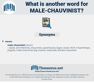 male chauvinist, synonym male chauvinist, another word for male chauvinist, words like male chauvinist, thesaurus male chauvinist