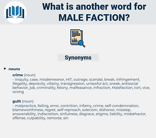 male-faction, synonym male-faction, another word for male-faction, words like male-faction, thesaurus male-faction