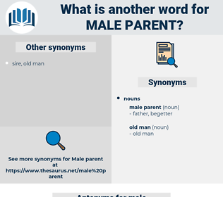 male parent, synonym male parent, another word for male parent, words like male parent, thesaurus male parent