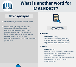 maledict, synonym maledict, another word for maledict, words like maledict, thesaurus maledict